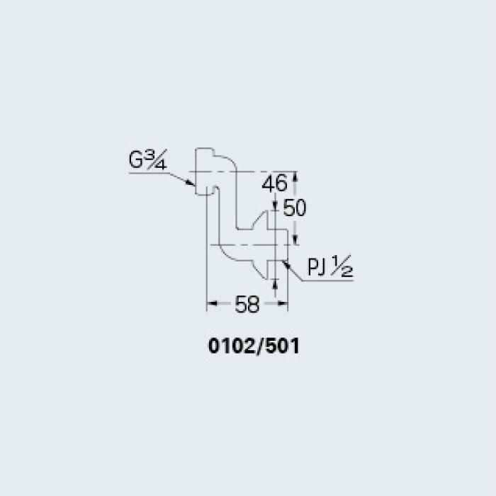 0102/501 水栓本体部品 クランク501