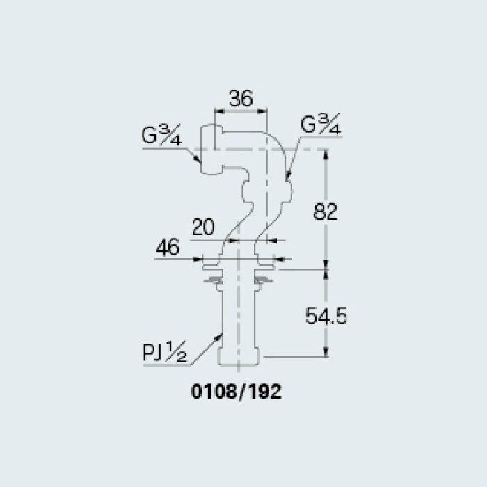 0108/192 水栓本体部品 クランク192