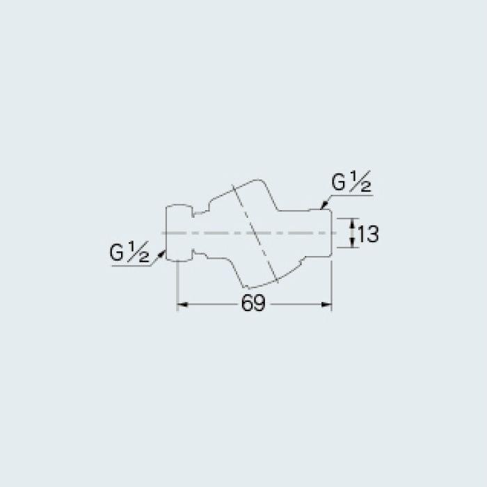 107-862 水栓本体部品 ストレーナー継手