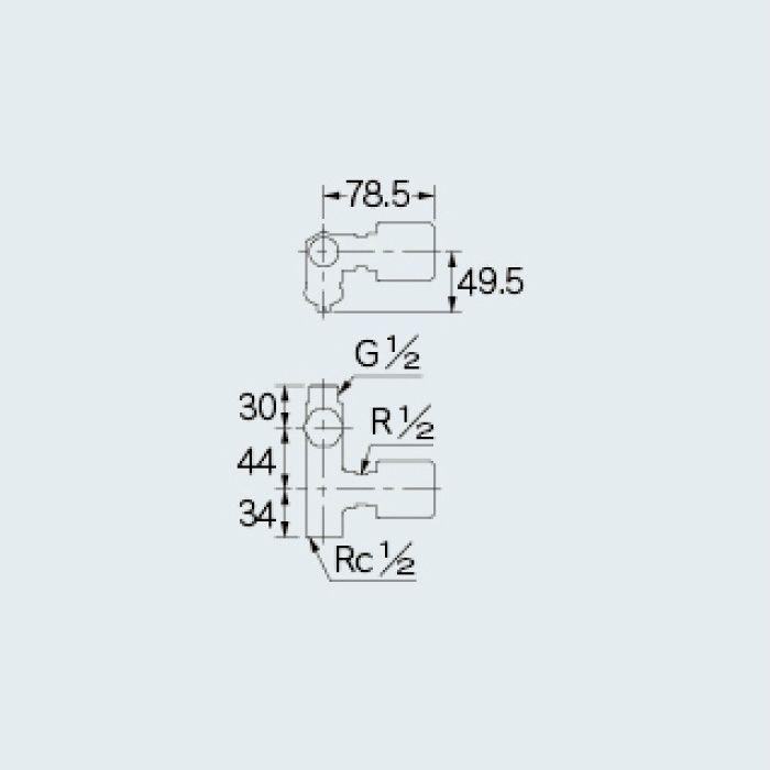784-527-13 水栓本体部品 ストレート形止水栓(ボンパミニつき)