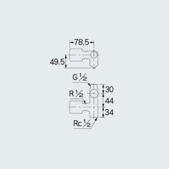784-528-13 水栓本体部品 ストレート形止水栓(ボンパミニつき)