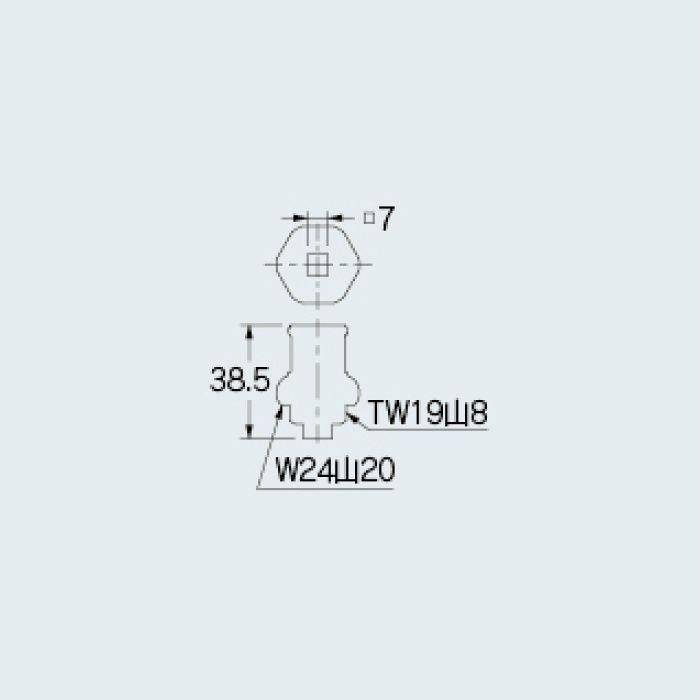 7901 水栓本体部品 共用上部