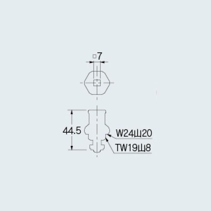 790-104 水栓本体部品 共用上部 ブロンズ