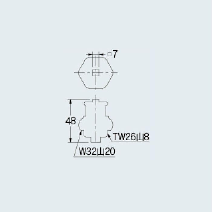 7902 水栓本体部品 共用上部(大)
