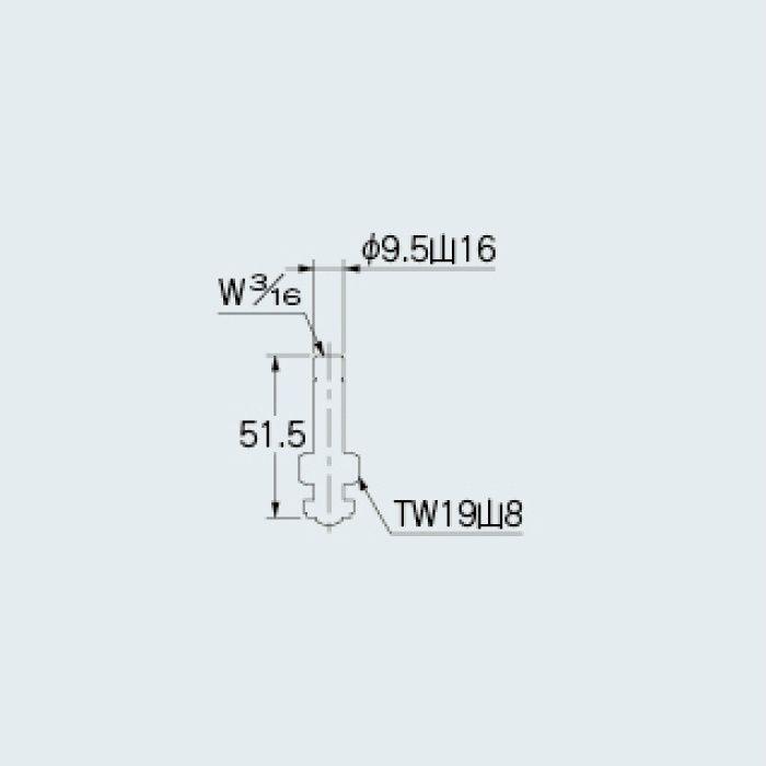 792-809 水栓本体部品 左ネジスピンドル(固定コマ)