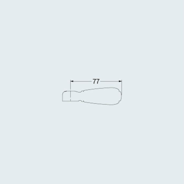 7936R 水栓本体部品 カラーハンドル(プリム) レッド