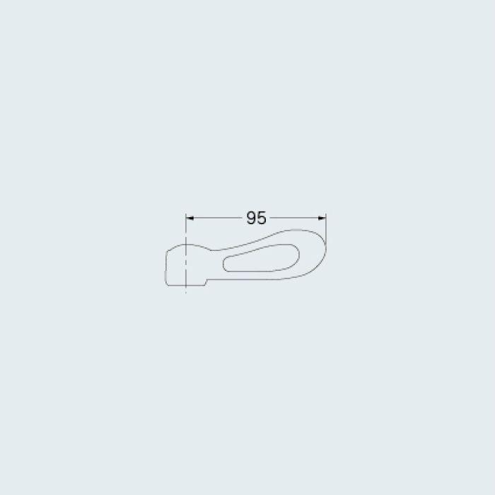 793-613-W 水栓本体部品 レバーハンドル(リーフ) ホワイト
