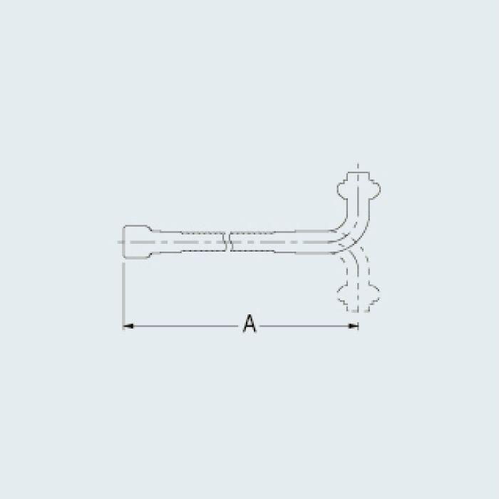775-312 水栓先端部品 自在フレキパイプ