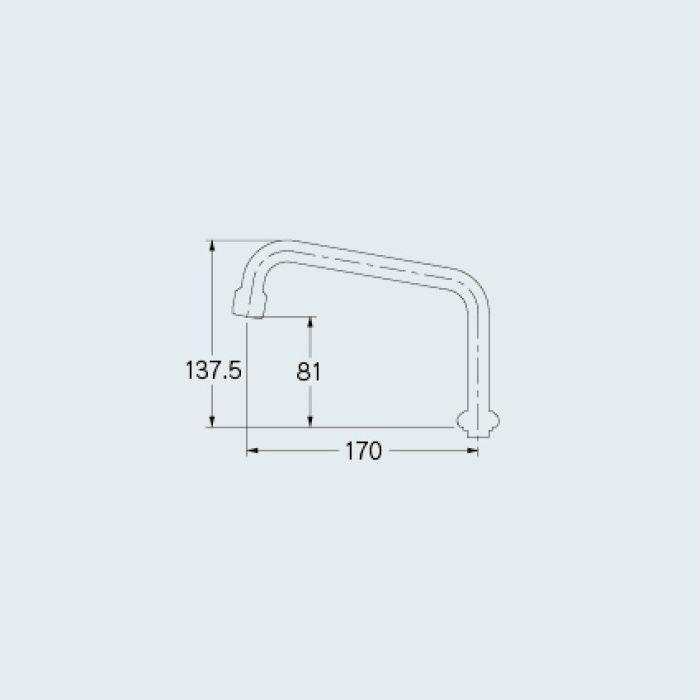 774-100 水栓先端部品 泡沫UHパイプ