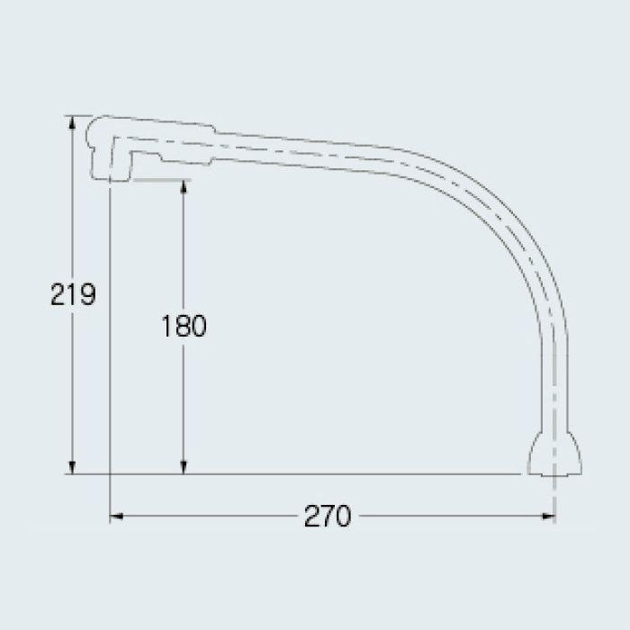 7957 水栓先端部品 泡沫スワンパイプ