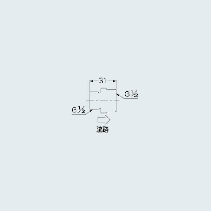 6207-5 水栓先端部品 定流量弁B