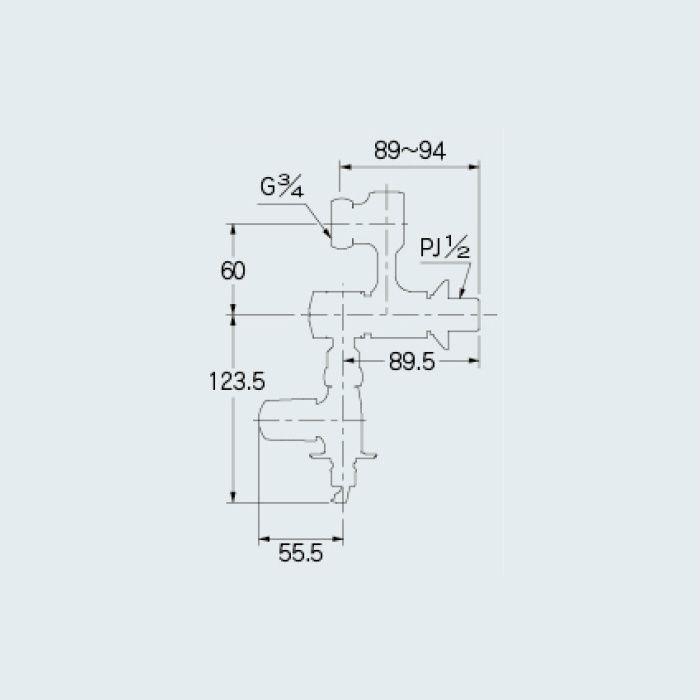 100-113 分岐装置 アジャストクランク(分水孔コックつき)