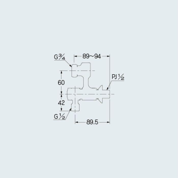 100-114 分岐装置 アジャストクランク(分水孔つき)