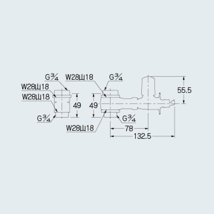 107-893 分岐装置 マルチ分岐(分水つぎて型)