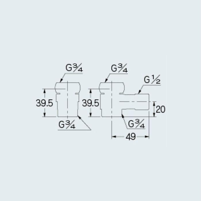 107-896 分岐装置 混合栓用分水つぎてセット