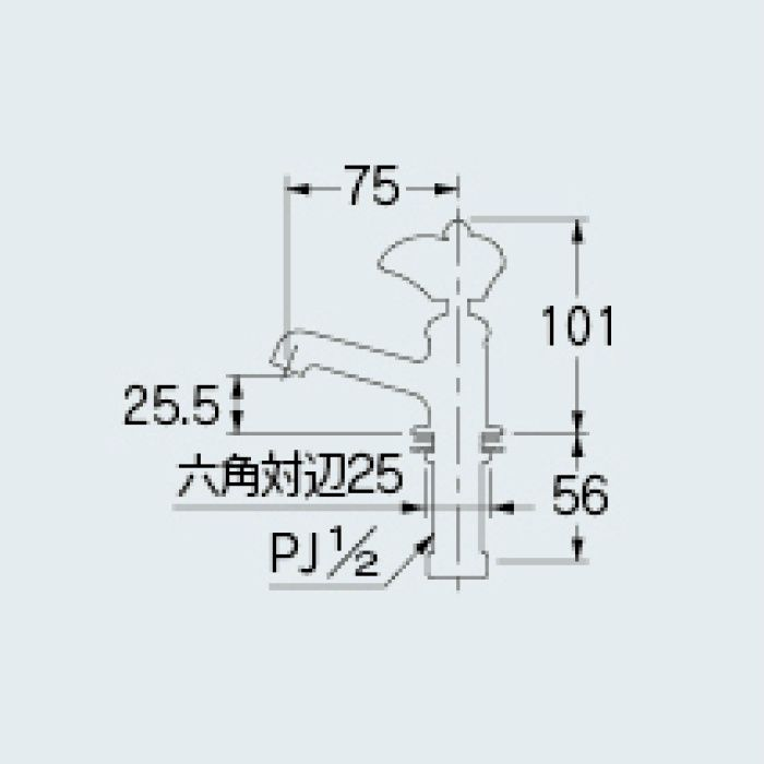 700-071-D 一般水栓 立水栓 ブラック