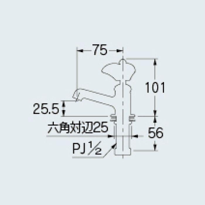 700-071-R 一般水栓 立水栓 レッド