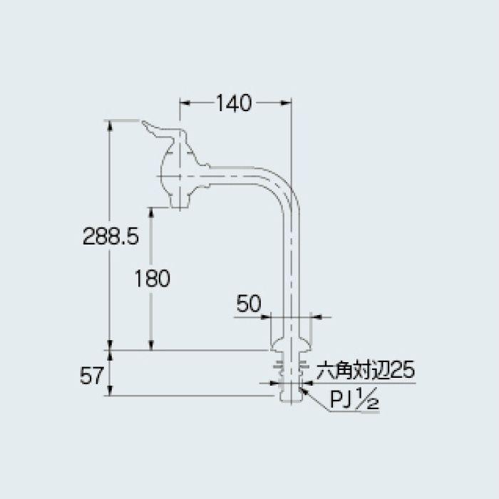 721-223-G 一般水栓 エンジェルエッグ立水栓 ゴールド