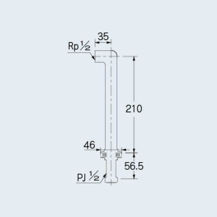 104-107 一般水栓 水栓取付脚(トール) ブロンズ