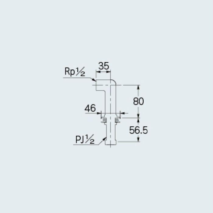 104-112 一般水栓 水栓取付脚 マットブラック