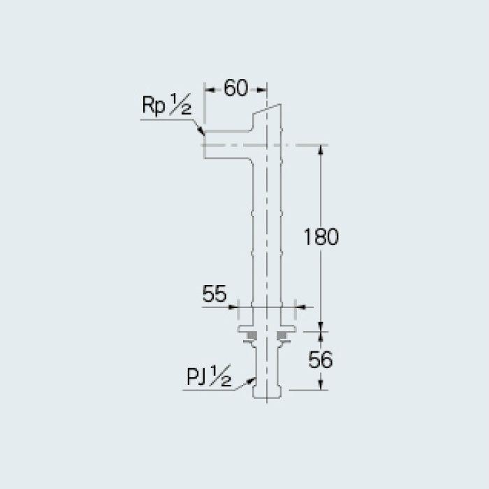 104-115 一般水栓 水栓取付脚(竹) セピア