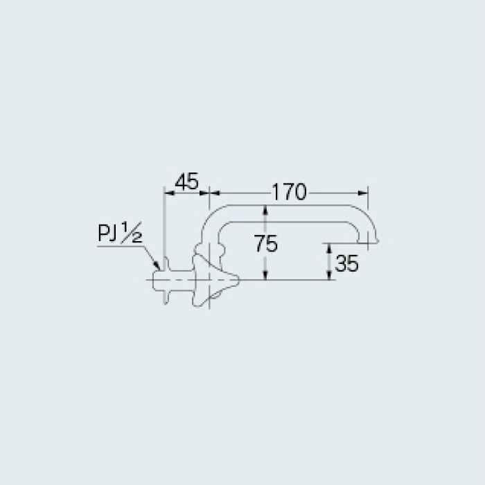 7245 一般水栓 左ハンドル横形自在水栓 13