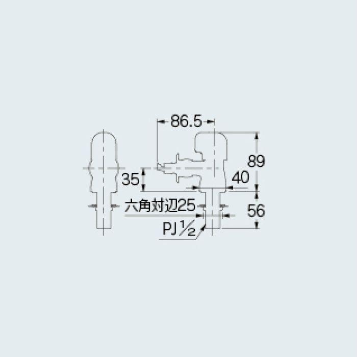 728-303 食洗器取付用水栓 分水専用水栓
