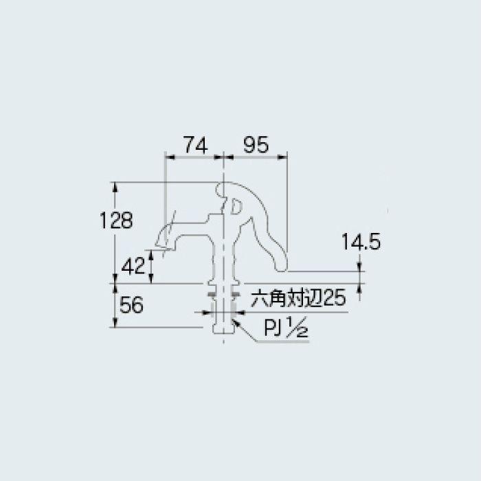 711-302-13 アイキャッチ水栓 井戸端蛇口