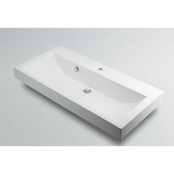 493-070-1000 カウンター設置タイプ 角型洗面器(1ホール)