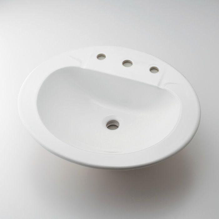 #CL-K1001AC カウンター設置タイプ 丸型洗面器(3ホール)