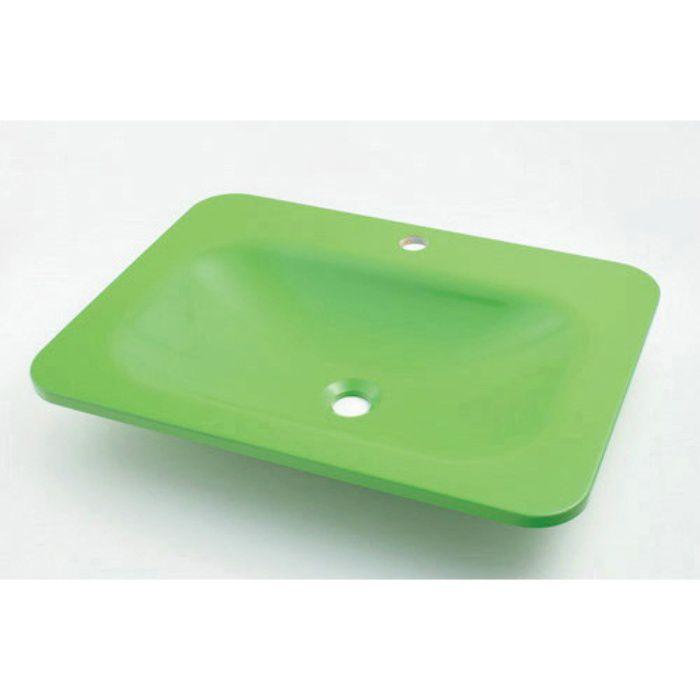 #MR-493220GR カウンター設置タイプ 角型洗面器 アップルグリーン