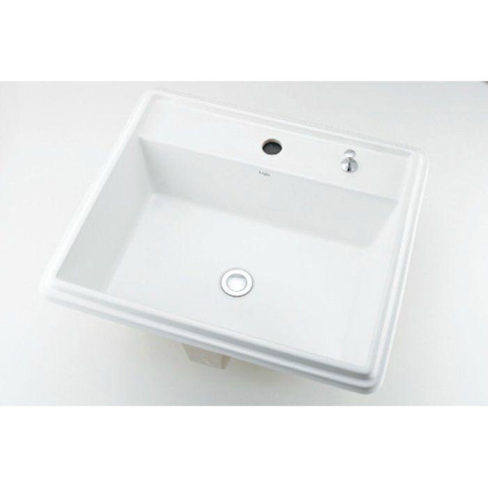 493-151H カウンター設置タイプ 角型洗面器(1ホール・ポップアップ独立つまみタイプ)