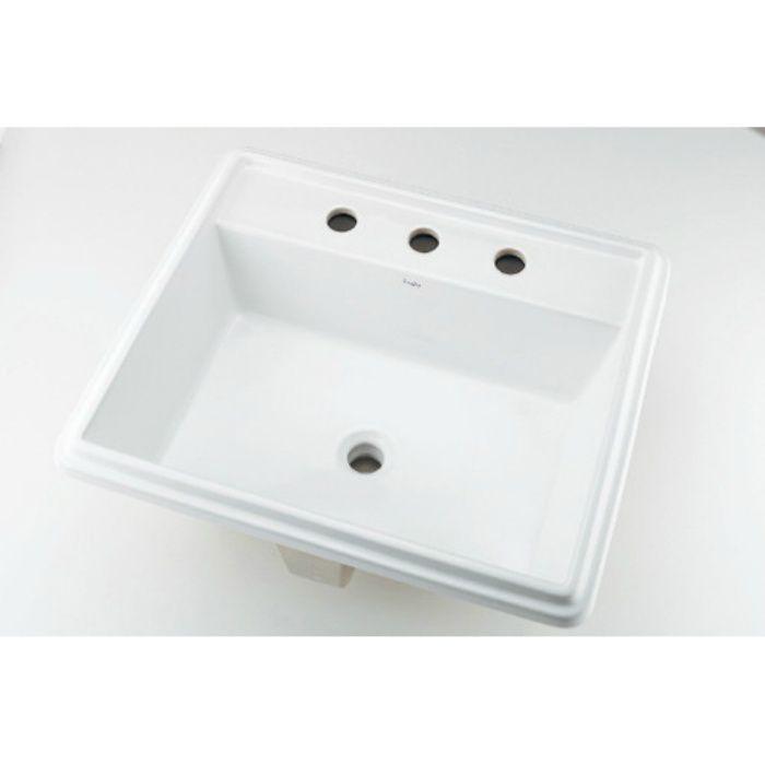 493-152 カウンター設置タイプ 角型洗面器(3ホール)