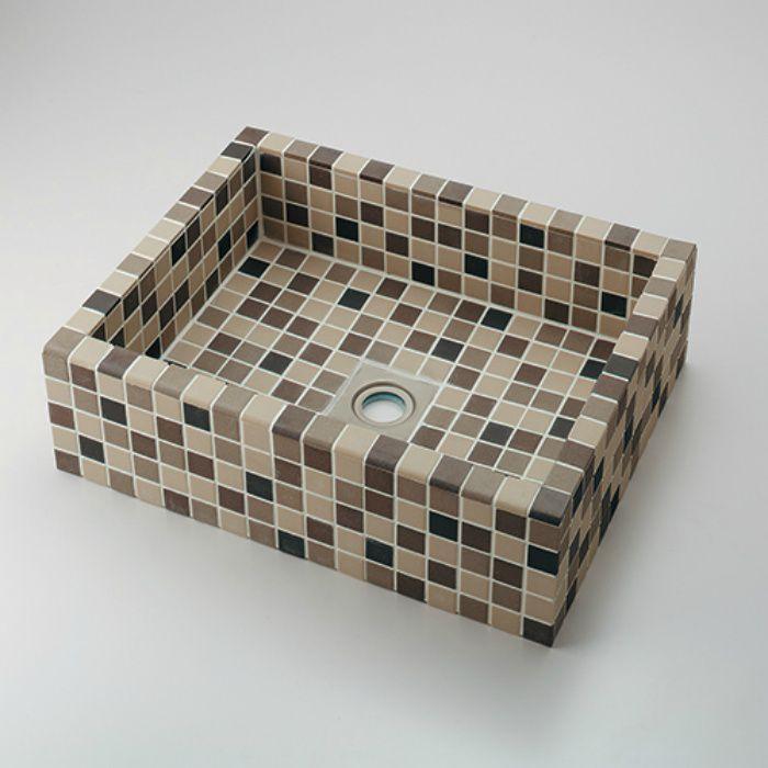 493-143-BM カウンター設置タイプ 角型洗面器 ブラウンミックス