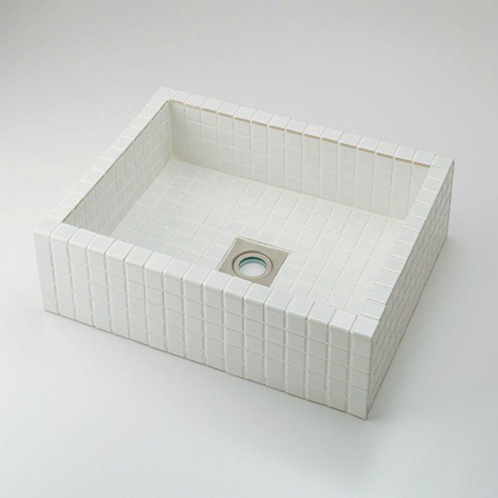 493-143-W カウンター設置タイプ 角型洗面器 ホワイト