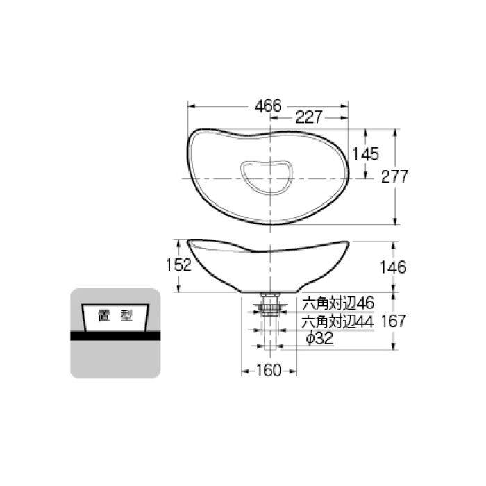 #MR-493222 カウンター設置タイプ 手洗器 白豆
