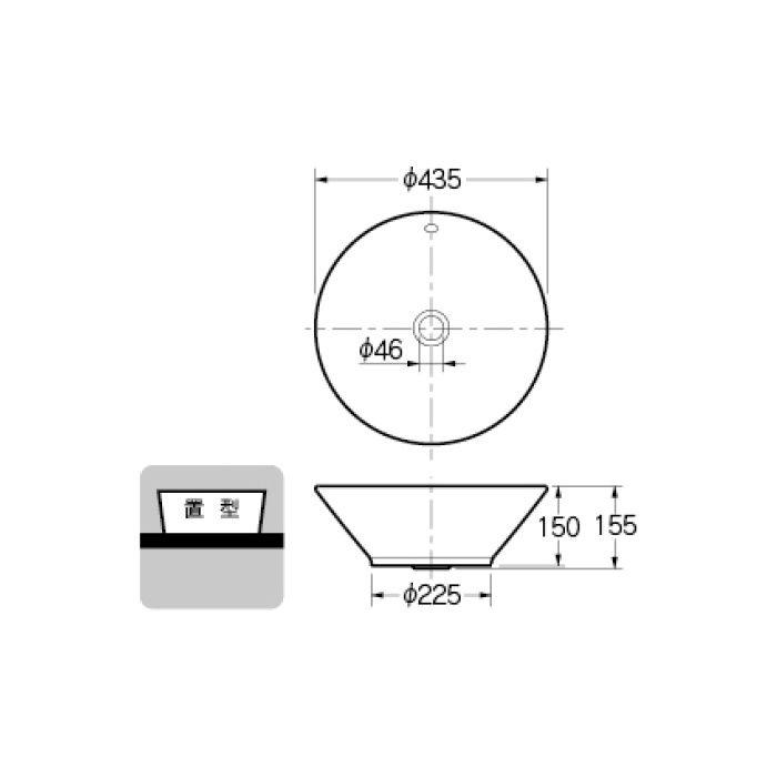#CL-WB1504 カウンター設置タイプ 丸型洗面器