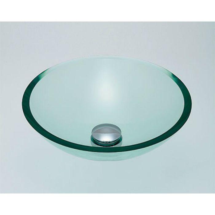 493-025-C カウンター設置タイプ ガラス丸型洗面器