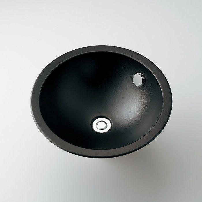 493-127-D カウンター設置タイプ 丸型洗面器 マットブラック