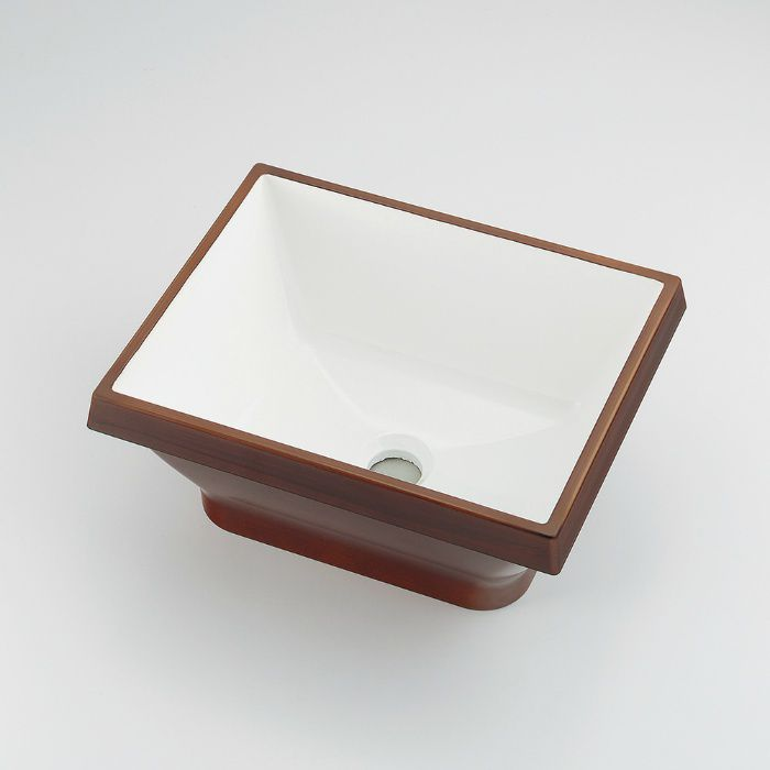 493-145-DW カウンター設置タイプ 角型手洗器 ココナッツ