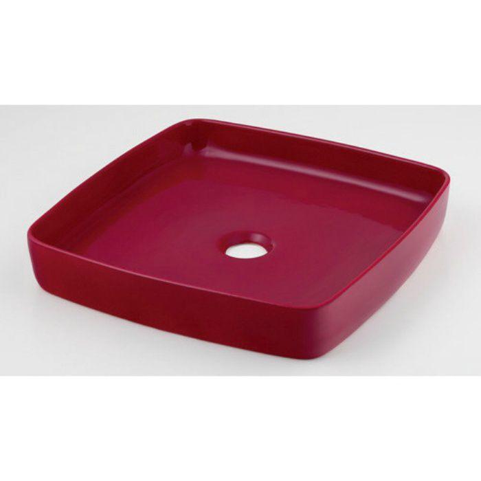 493-096-R カウンター設置タイプ 角型手洗器 ラズベリー