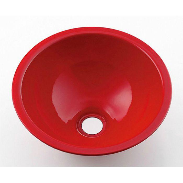 493-026-R カウンター設置タイプ 丸型手洗器 レッド