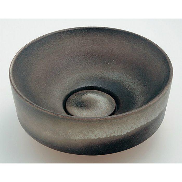 493-023-DG 和風 丸型手洗器 古窯