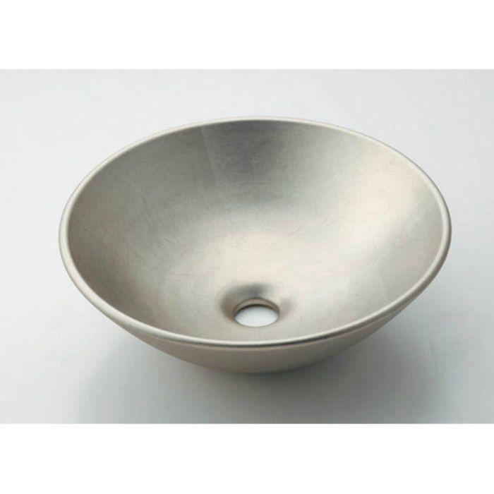 493-095-T 和風 丸型手洗器 白銀
