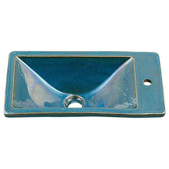 493-010-CB 和風 角型手洗器 孔雀