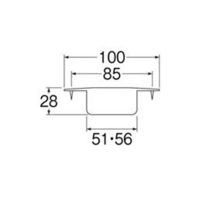 H561-50 洗濯機排水口