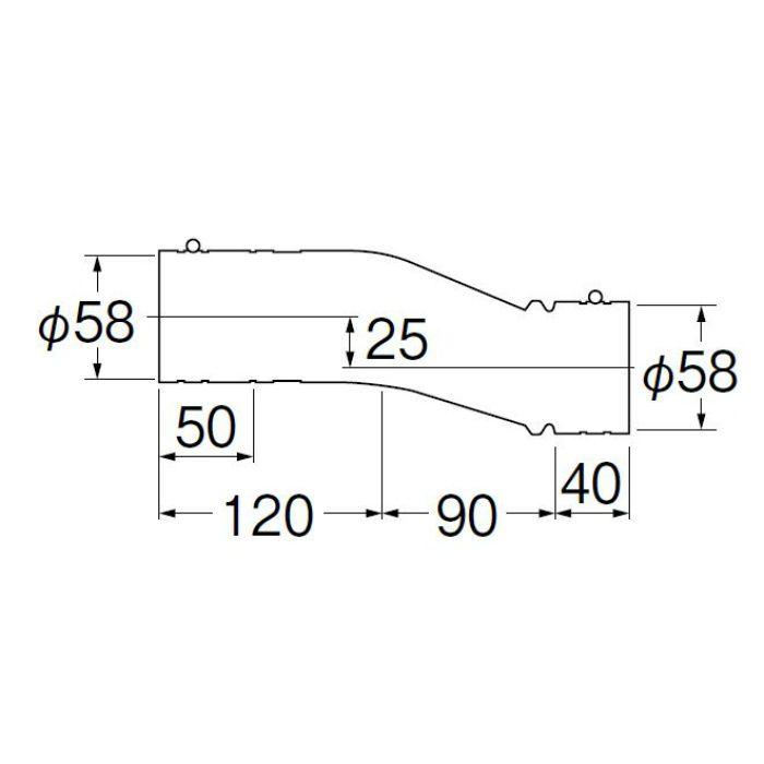 H6421C-50X250 パン排水フレキ