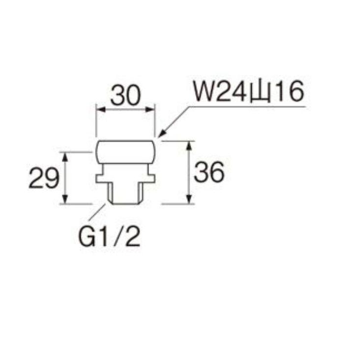 T90-20X-13X16 小便アダプター