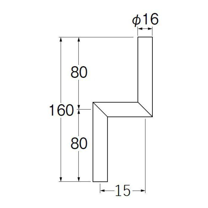 V90-65-15 小便Zパイプ 偏心寸法15mm