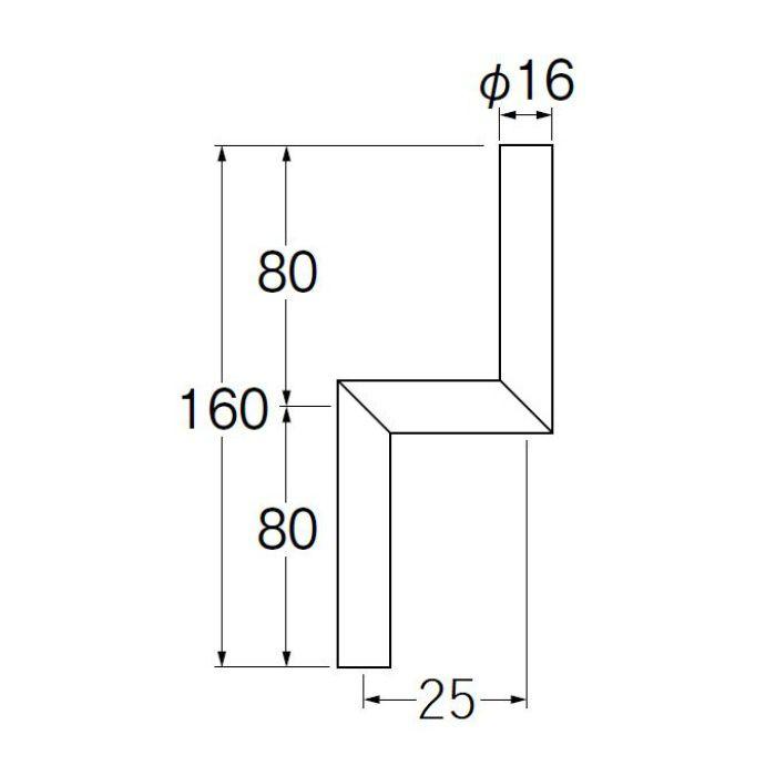 V90-65-25 小便Zパイプ 偏心寸法25mm